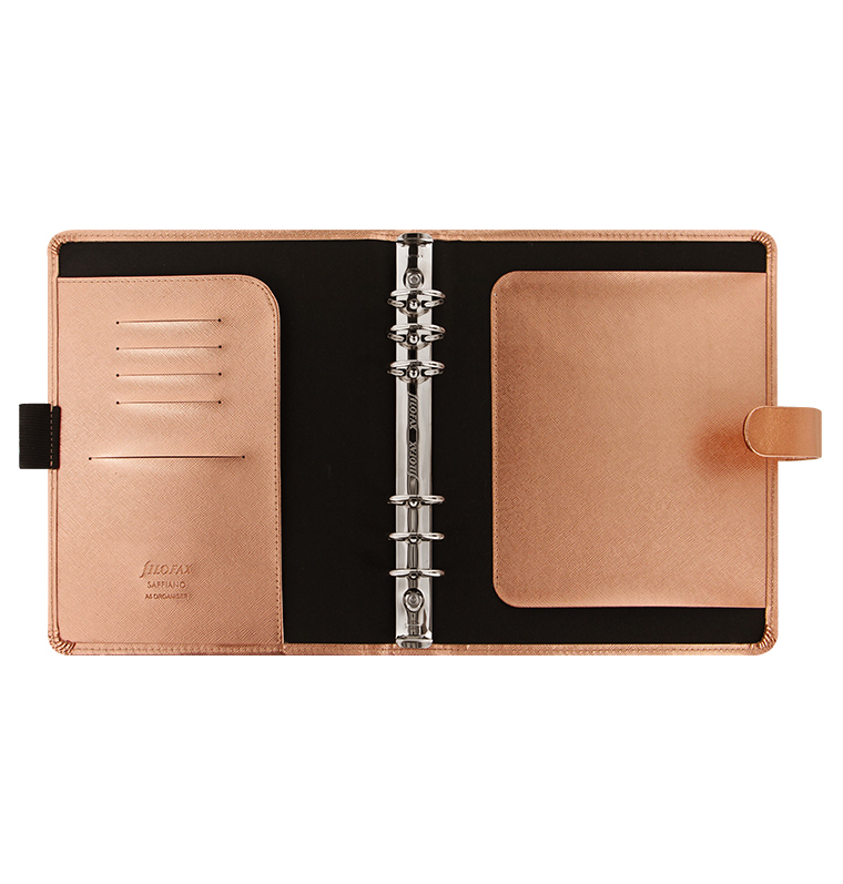 Saffiano organizer special edition a5 size rose gold for Construction organizer notebook