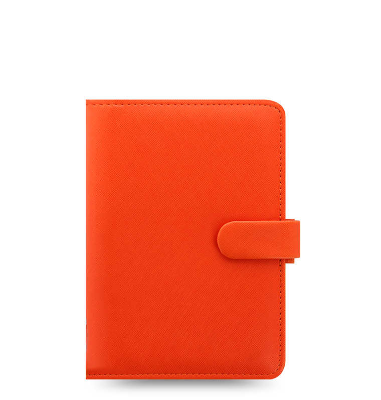 Saffiano organizer bright orange personal size 022587 for Construction organizer notebook