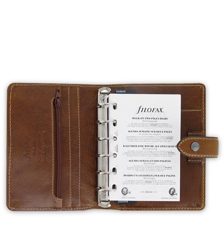 filofax malden organizer ochre leather pocket size