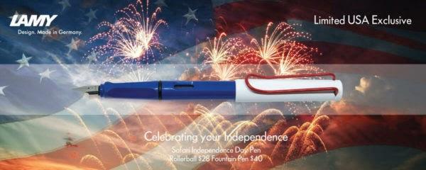 Lamy 014 Safari Fine Nib Special Independence Day Fountain Pen – LUSA1F